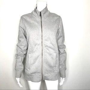 Carthartt Gray Fleece Embroidered Sleeve Jacket M